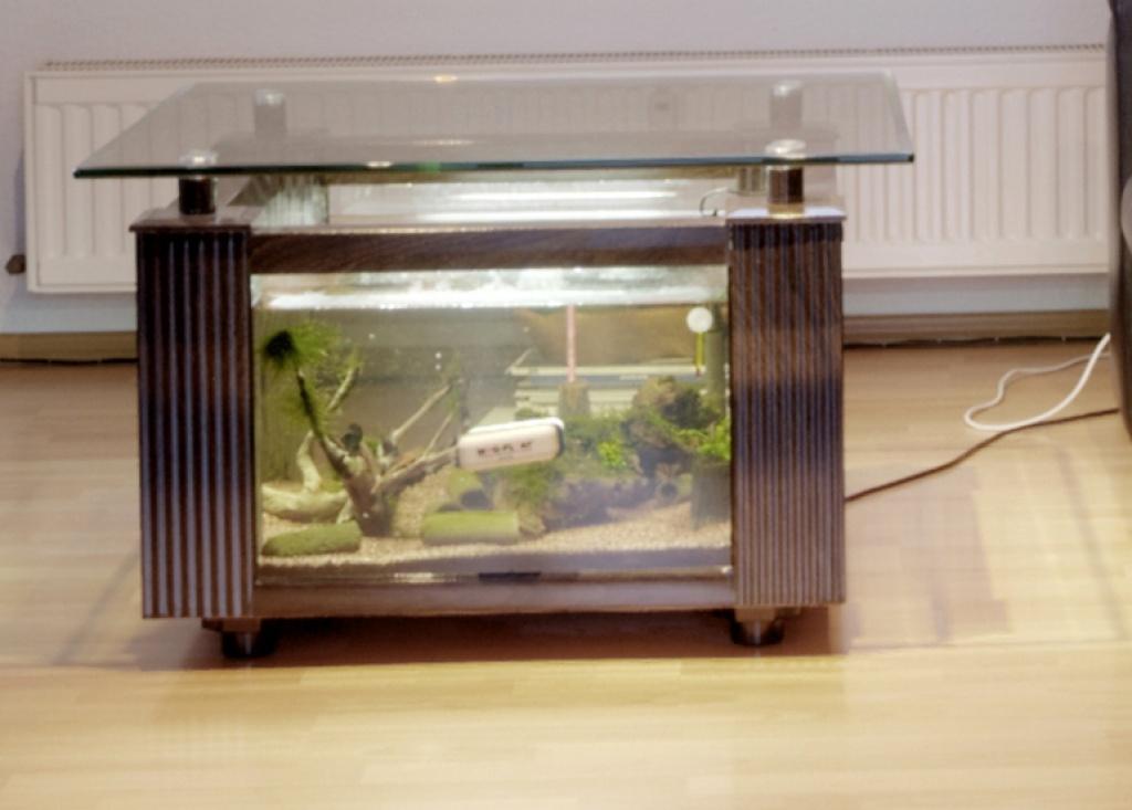 Aquarium tisch bauen wohn design - Aquariumschrank selber bauen ...