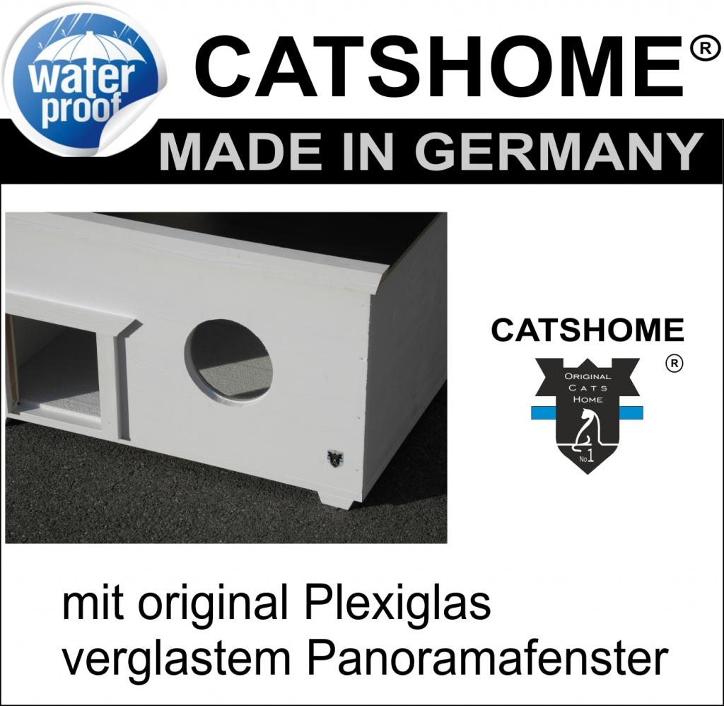Wetterfestes Katzenhaus Katzenhütte outdoor original CATSHOME Made ...